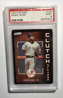 DEREK JETER 2003 UPPER DECK Victory Baseball Card PSA 9