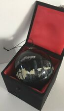 LONDON by Night CHRISTMAS TREE GLASS HAND PAINTED BAUBLE Battersea Big Ben Tower