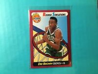 DEE BROWN 1991 FLEER ROOKIE SENSATIONS INSERT CARD #10 CELTICS