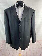 Jones New York Solid Black Tuxedo Blazer 48
