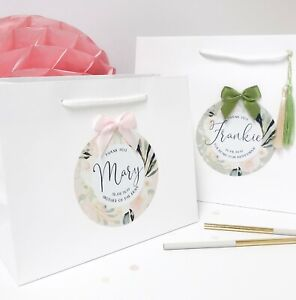 Personalised Gift bag | LUXURY BLUSH BOUTIQUE | Wedding Thank you Favour bags
