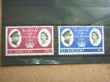 St. Vincent 2 Marken ** aus 1966 Besuch des englischen Königspaares