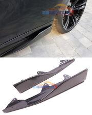 P Style Carbon Fiber Side Splitter Side Lip Extension For BMW F87 M2 16UP b430