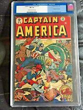 CAPTAIN AMERICA COMICS #52 CGC FN- 5.5; CM-OW; Schomburg atomic bomb robbery!