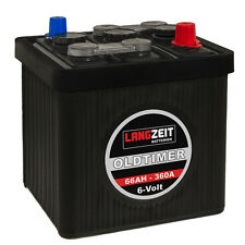 LANGZEIT Oldtimer Autobatterie Batterie 6V 66Ah Starterbatterie 6 Volt  06611