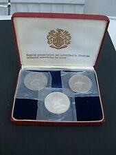 More details for  usa gardiners island  - franklin mint 1965 specimen silver substitute set.