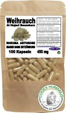 100 Kapseln 450 mg Weihrauch. BAUMHARZ  OLIBANUM AL HOJARI  BETA BOSWELLIASÄURE