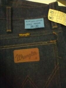 Vintage Deadstock Denim Wrangler Jeans Bootcut 945 36x32 Made In USA