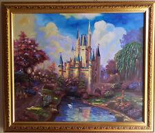 Gemälde, Handgemalt Leinwand, disney schloss 50 cm x 60 cm, Winton Feine Ölfarbe