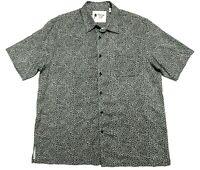 Vintage Silk Circa 1969 Mens 2XL Short Sleeve Button Up Silk Hawaiian Shirt EUC