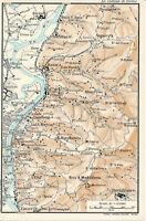 Torino Superga Revigliasco 1916 picc. cartina orig. Maddalena Bertulla Sassi