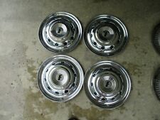 "1951 Ford HUB CAPS 15"" Set 4 Wheel Covers Deluxe Accessory Hubcaps CRESTLINE 51"