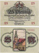 Alemania 25 Pfennig 1918 Notgeld Wunsiedel UNC Uncirculated banknote