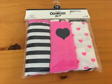 New Oshkosh 3 Pack Underwear Girls Panties Stripes Hearts...