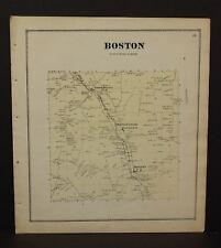 New York Erie County Map Boston Township  c1866  W12#17
