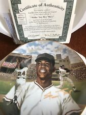 Willie Mays Superstars of Baseball Bradford Ex Collector Plate. NIB COA Giants