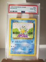 1999 Pokemon Base Set  SQUIRTLE #63/102 PSA 10 GEM MINT. WOTC
