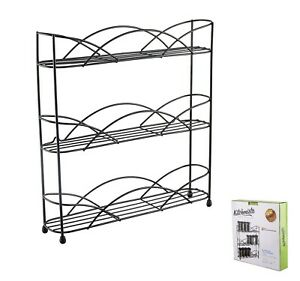 Kitchenista Free Standing Spice and Herb Rack, Universal - Black