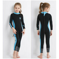 Compact Kids Wetsuit Girls Diving Jumpsuit Breathable Snorkeling Coverall Suit