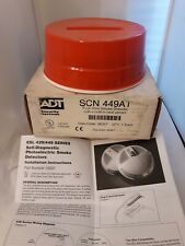 Vtg ADT SECURITY SYSTEM 4 Wire Smoke Heat Detector SCN 449AT MIB NOS