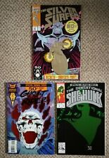 MARVEL 50th EDITION COMICS, SILVER SURFER, GHOST RIDER & SHE-HULK, FOIL COVERS!
