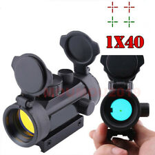 New 1x40 Red Green Dot Sight Scope Hunting 11mm 20mm Rail Mount Collimator Sight