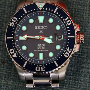 Seiko Prospex Mens Solar Divers 200M Padi Special Edition SNE435P1