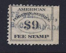 RK26, $9.00 American Foreign Service, Consular Fee Revenue