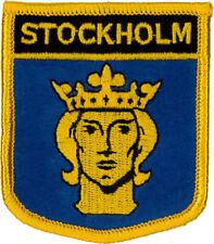Stockholm (Shield) Sweden Embroidered Patch 7CM X 6CM