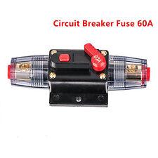 12v DC Car Auto Boat Audio Fuse Holder 60 Amp Manual Reset Circuit Breaker