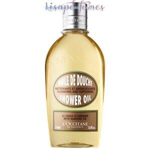 L'Occitane Cleansing & Softening Shower Oil With Almond Oil 8.4oz / 250ml NIB