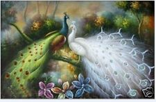 ZWPT02 Large Art modern peacock OIL PAINTING Wall Decor On Canvas