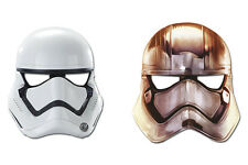 6 x Star Wars Stormtrooper Birthday Party Face Masks Loot Favor Bag Fillers