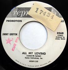 JIMMY GRIFFIN 45 All My Loving NEAR MINT Teen POPCORN Beatles PROMO e4395