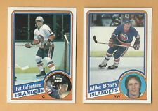 New York Islanders 1984/85 Topps Pat LaFontaine Rookie & Mike Bossy Card Pair