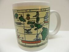 Map Of Hawaiian Islands Coffee Mug 1996 Island Treasures Hawaii