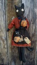 PATTERN~on cd/ my PRIMITIVE saltbox/CAT/pumpkins/doll/halloween/fall/hanger/pt26