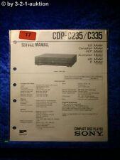 Sony Service Manual CDP C235 / C335 CD Player (#0017)
