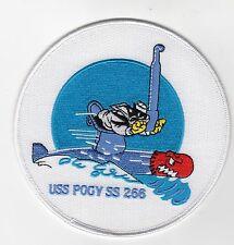 USS Pogy  SS 266 - Cat riding Torpedo looking thru Scope BC Patch Cat No B576