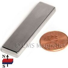 "N45 Neodymium Magnets 2x1/2x3/16"" Rare Earth Magnet Super Strong 4 PC"