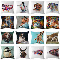 Watercolor Ink Painting Tiger Decorative Throw Pillow Case Cushion Cover 18''