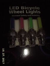 LED Color Valve Cap Bicycle Bike Wheel Tire Light Spoke Lamp Cycling New on card