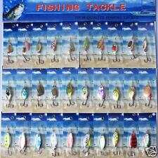 Lot 30pcs Metal Fishing Lures Spinner Baits Crank Assorted Spoon Hook Tackle