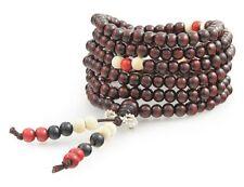 Bouddhiste Rosaire Bois De Santal 216 Perles Mala Chaîne Tibet Rosary Bracelet