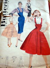 LOVELY VTG 1950s SKIRT & BLOUSE BUTTERICK Sewing Pattern 14/32 FF