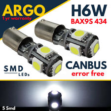 SUPER BRIGHT CANBUS 5 LED SIDE LIGHT BULBS - AUDI TT MK1 2 8N 8J BAX9S H6W 433C