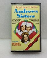 CHRISTMAS WITH THE ANDREWS SISTERS-BING CROSBY-CASSETTE TAPE--FREE UK SHIPPING