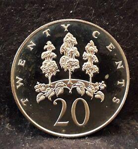 1973-FM Jamaica (Republic) 20 cents, proof, mint:17,000, KM-55              /N59