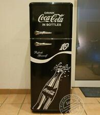 Retro Kühlschrank Gefrierkombination schwarz K1 Coca Cola A++ Bomann DTR 353