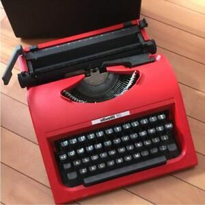 OLIVETTI 110 VERY RARE RED TYPEWRITER VINTAGE ORIGINAL GOODS